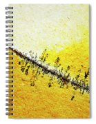 Abstract Crack Line On The Orange Rock Spiral Notebook