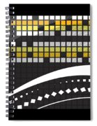 Abstract Crossword Puzzle Squares On Black Spiral Notebook