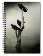 Abstract Crows In A Tree Spiral Notebook