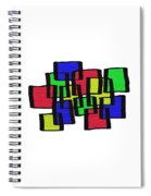 Abstract Cubicles Spiral Notebook