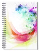 Abstract Curved Spiral Notebook