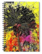 Abstract Dandelion Stained Glass Spiral Notebook