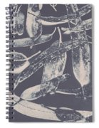 Abstract Design Tree Leaves Background Spiral Notebook