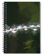 Abstract Dew On Reed Spiral Notebook