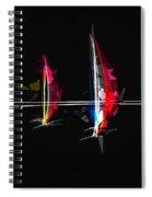 Abstract Digital Boats Spiral Notebook