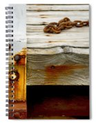 Abstract Dock Spiral Notebook