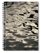 Abstract Dock Reflections I Toned Spiral Notebook