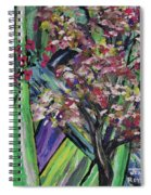 Abstract Dogwood Spiral Notebook