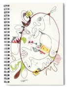 Abstract Drawing Fifty-four Spiral Notebook