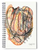 Abstract Drawing Forty-five Spiral Notebook