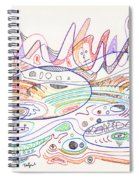 Abstract Drawing Nineteen Spiral Notebook