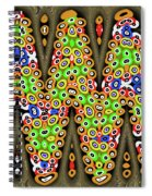 Abstract Drawing Panel Spiral Notebook