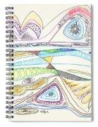 Abstract Drawing Seventeen Spiral Notebook