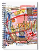 Abstract Drawing Sixty-eight Spiral Notebook