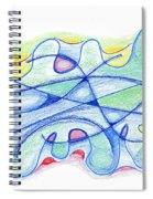Abstract Drawing Sixty-five Spiral Notebook