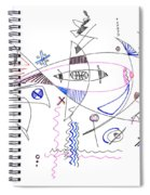 Abstract Drawing Sixty-four Spiral Notebook