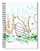Abstract Drawing Sixty-one Spiral Notebook