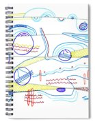 Abstract Drawing Sixty-three Spiral Notebook