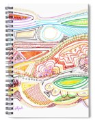 Abstract Drawing Sixty-two Spiral Notebook