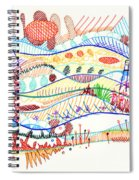 Abstract Drawing Three Spiral Notebook