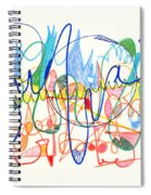 Abstract Drawing Two Spiral Notebook