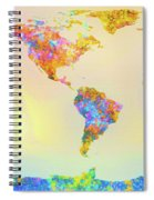Abstract Earth Map 2 Spiral Notebook