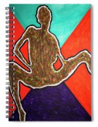 Abstract Ebony Nude Sitting Spiral Notebook