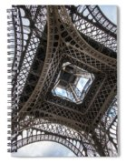 Abstract Eiffel Tower Looking Up 2 Spiral Notebook