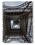 Abstract Eiffel Tower Looking Up Spiral Notebook
