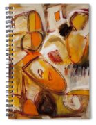 Abstract Expressionism Three Spiral Notebook