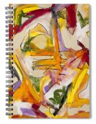 Abstract Expressionism Two Spiral Notebook