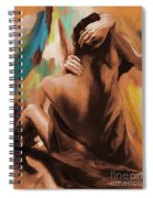 Abstract Female Back  Spiral Notebook