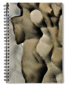 Abstract Female Figure In Grey  Spiral Notebook