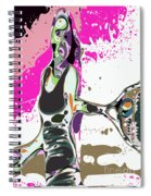 Abstract Female Tennis Player Spiral Notebook