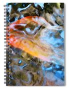 Abstract Fish Art - Fairy Tail Spiral Notebook