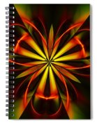 Abstract Floral 032811 Spiral Notebook