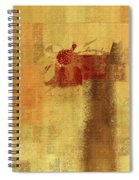 Abstract Floral - 14v2ft Spiral Notebook
