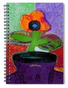Abstract Floral Art 114 Spiral Notebook