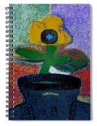 Abstract Floral Art 115 Spiral Notebook