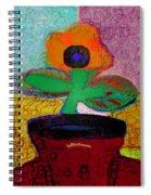 Abstract Floral Art 116 Spiral Notebook