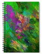 Abstract Floral Fantasy 071912 Spiral Notebook