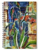 Abstract Floral Spiral Notebook