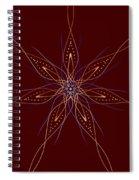 Abstract Flower Mandala Spiral Notebook