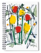 Abstract Flower Sixteen Spiral Notebook