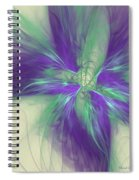 Abstract Flower Sway Spiral Notebook