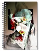 Abstract Flowers Of Love #1 Spiral Notebook