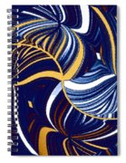 Abstract Fusion 279 Spiral Notebook