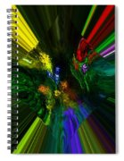 Abstract Garden Spiral Notebook