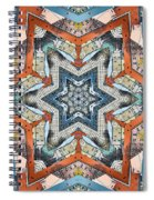 Abstract Geometric Structures Spiral Notebook