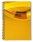 Abstract Golden Arcs And Lines Spiral Notebook